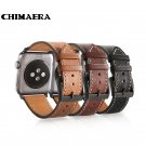 CHIMAERA Black Brown Coffee Genuine leather watch band for Iwatch Spring ba