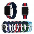 Silicone Colorful Wrist Band With Connector Adapter for Apple Watch band St