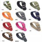 18 20 22 24 mm Brand Army Sports nato fabric Nylon watchband accessories Ba