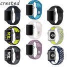 CRESTED Silicone strap For Apple Watch Band 42mm Sport Band For Apple Watch