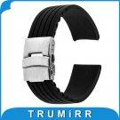 17mm 18mm 19mm 20mm 21mm 22mm 23mm 24mm Universal Silicone Rubber Watchband