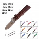 Leather Watches Band Strap 12mm 14mm 16mm 18mm 19mm 20mm 22mm Brown Pink Wh