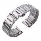 Solid 316L Stainless Steel Watchbands Silver 18mm 20mm 21mm 22mm 23mm 24mm