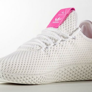 Pharrell Williams x Adidas Tennis Hu Sneakers White and Pink