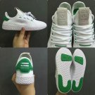 Pharrell Williams x Adidas Tennis Hu Sneakers - White and Green