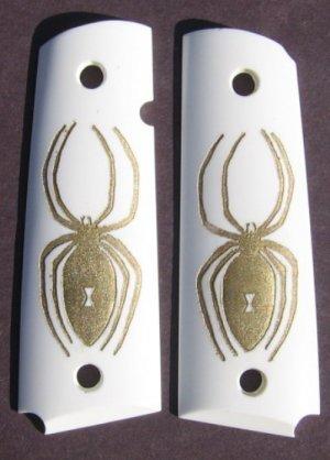 GRIPCRAFTER 18KT GOLD SPIDER 1911 COLT KIMBER GRIPS