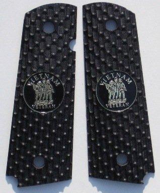 GRIPCRAFTER BLACK DESERT WARRIOR VIETNAM VETERAN 1911 COLT KIMBER GRIPS