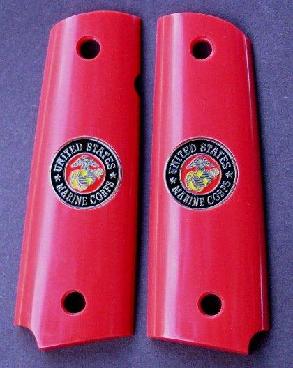 GRIPCRAFTER RED U.S.MARINE COLT KIMBER GRIPS