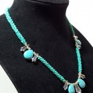 Jade Look Kumihimo Braided Beaded Necklace