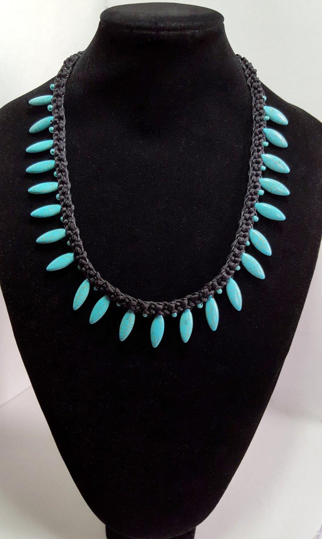 Jade Spike Braided Necklace