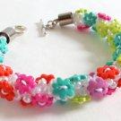 Buttoned Up Flower Bracelet