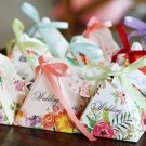 100pc Trigonal Pyramidal rose floral flower baby shower Wedding Favor Box sweet