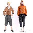 The Last Naruto the Movie Uzumaki Naruto Cosplay Costume Boruto's Father Orange Hoodie