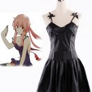 The Future Diary Gasai Yuno Black Dress Anime Cosplay Costume