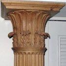 ca1820 Pair 7ft Yellow Pine Corinthian Columns Carved by John Rehan Ireland
