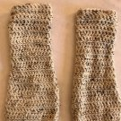 Creamy Speckled Crochet Leg warmers