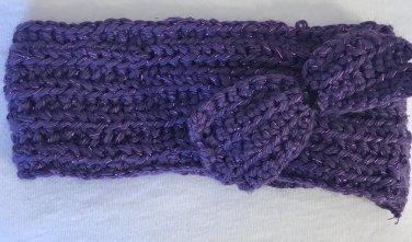 Purple Sparkly Bow Headband