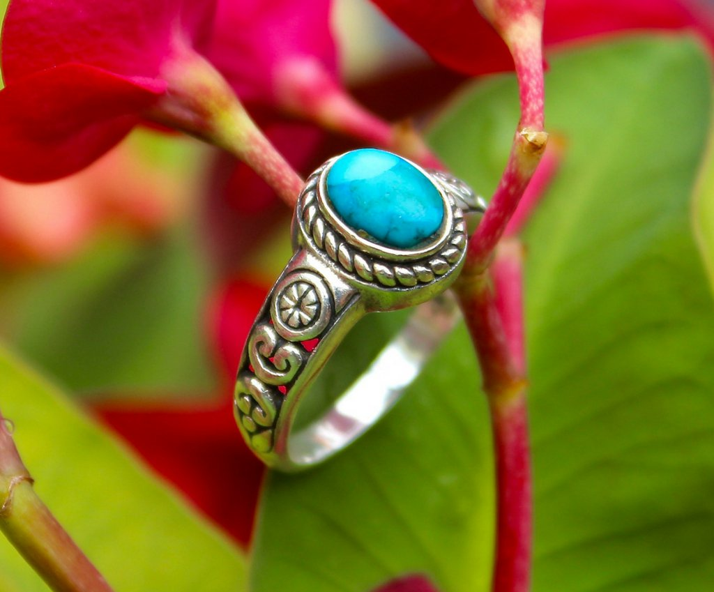 Lucky ring, 925 silver ring, turquoise ring, turquoise jewelry, solid sterling silver jewelry