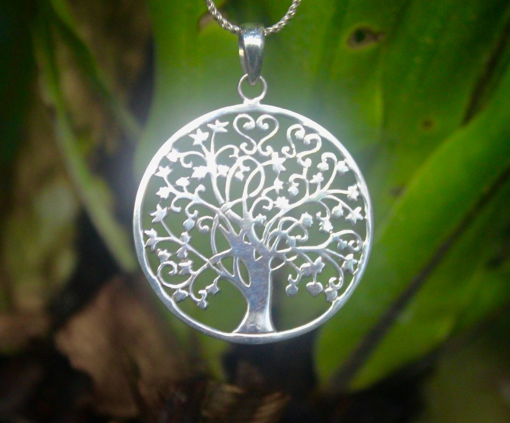 Tree of life pendant, nature jewelry, solid 925 silver pendant, 925 silver jewelry, handmade jewelry