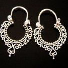Journey earrings, silver hoop earrings, small earrings, 925 silver jewelry, handmade jewelry