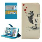 For iPhone 8 & 7 Squirrel Pattern Leather Case with Holder, Card Slots & Wallet