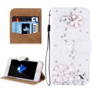 For iPhone 8 & 7 Fevelove Flower Diamond Leather Case with Magnetic Buckle & Card Slots