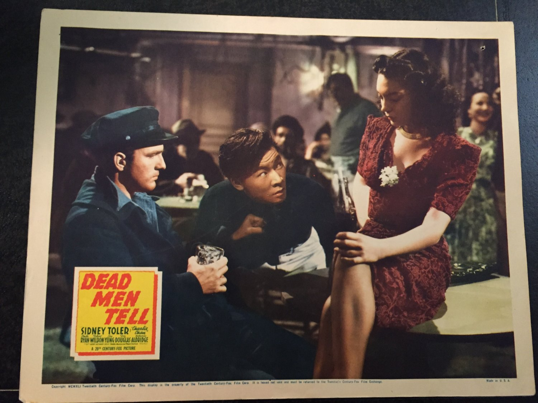 CHARLIE CHAN in DEAD MEN TELL LOBBY CARD, 20TH CENTURY FOX 1941, SIDNEY TOLER