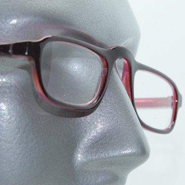 Reading Glasses Half Eye Low Rise Rise Two Tone Frame Rose Maroon +2.00 Lens