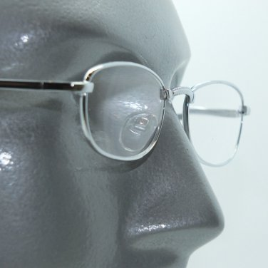 No Fuss Simple Metal Silver Wire Frame Reading Glasses +2.00 Lens Strength