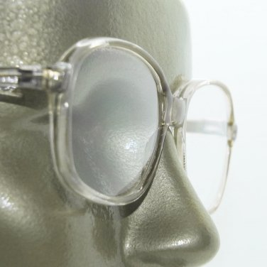 Large Lens Reading Glasses Acrylic Women's Classic Crystal Dark Gray Frame +2.25