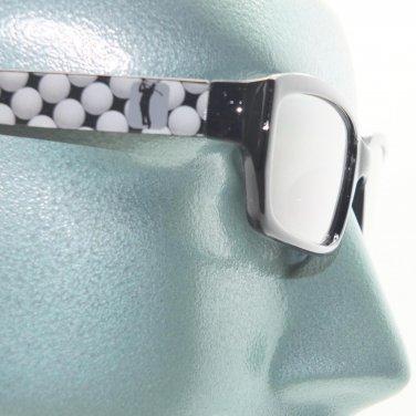 Reading Glasses Golfing Fan Sports Golf Ball Classic Black Frame +2.50 Lens