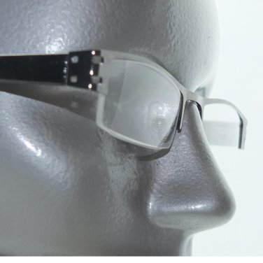 City Style Reading Glasses Brown Bronze Metal Polished Straight Top Frame +3.00