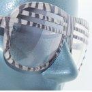 Zebra Stripe Frame Half Shutter Clear Lens Rockin' Fashion Eyewear Glasses