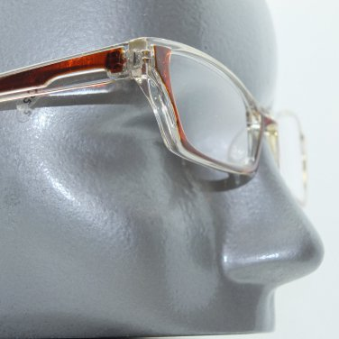 Ombre Red Brown Crystal Modern Cat Eye +1.25 Reading Glasses Wide Frame