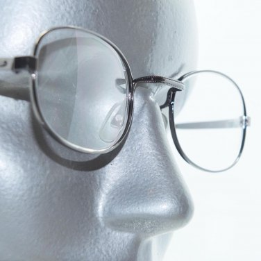 Standard Style Aquare Bridge Reading Glasses Shiny Gray Metal Frame +2.50 Lens