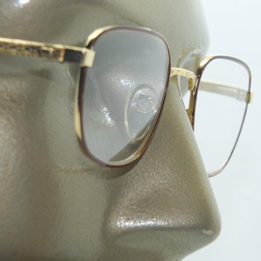 Reading Glasses Women's Classic Metal Lightweight Gold Brown Frame +1.50 Lens