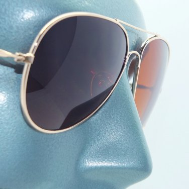 Aviator Metal Gold Frame Brown Lens Sunglasses Sun Shades Pilot Captain