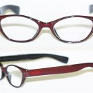 """Reading Glasses """" FUNKY Chunky FAT Cat Eye """" BOLD Cocoa Brown Frame Reader +2.50"""