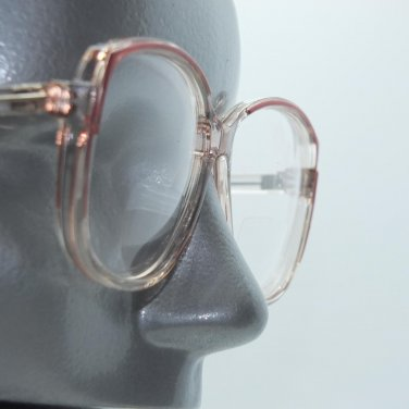 Bifocal Reading Glasses Big Bold Statement Frame Clear Pink Accents +3.25 Lens