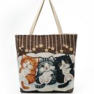 Polyester Cat kitten handbag purse tote bag accesory