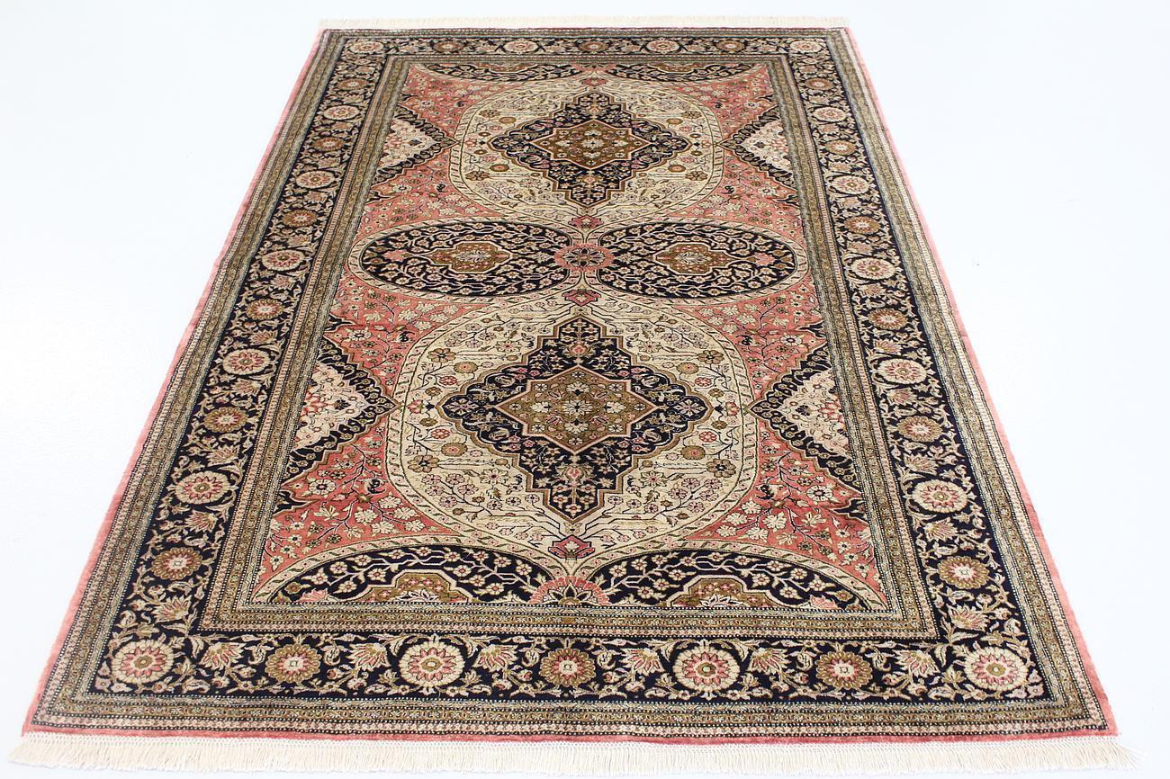 antique old design Persian silk carpet/rug qom handmade 100% pure silk 600/kpsi