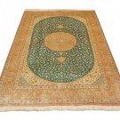Isfahan design Persian silk carpet/rug qom handmade 100% pure silk 600/kpsi
