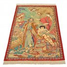 ISMAIL  art feat Persian silk carpet/rug qom handmade 100% pure silk 600kpsi