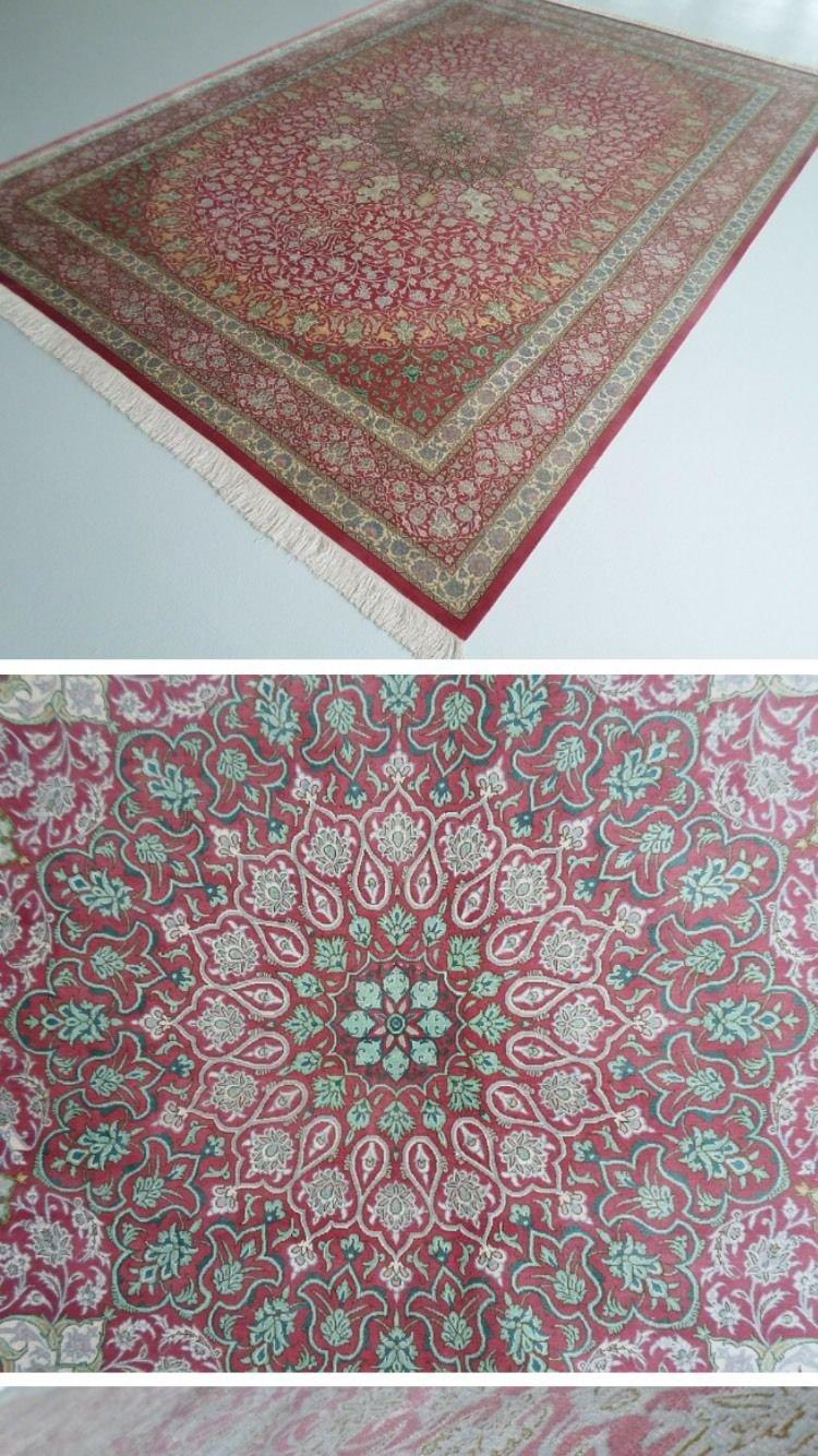 MUSEUM Rug  Persian silk carpet/rug qom handmade 100% pure silk 600kpsi