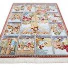 jesus design Persian silk carpet/rug qom handmade 100% pure silk 600/kpsi
