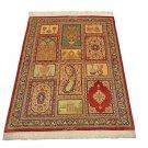 antique design Persian silk carpet/rug qom handmade 100% pure silk 600/kpsi