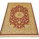 4 corner design Persian silk carpet/rug qom handmade 100% pure silk 600/kpsi