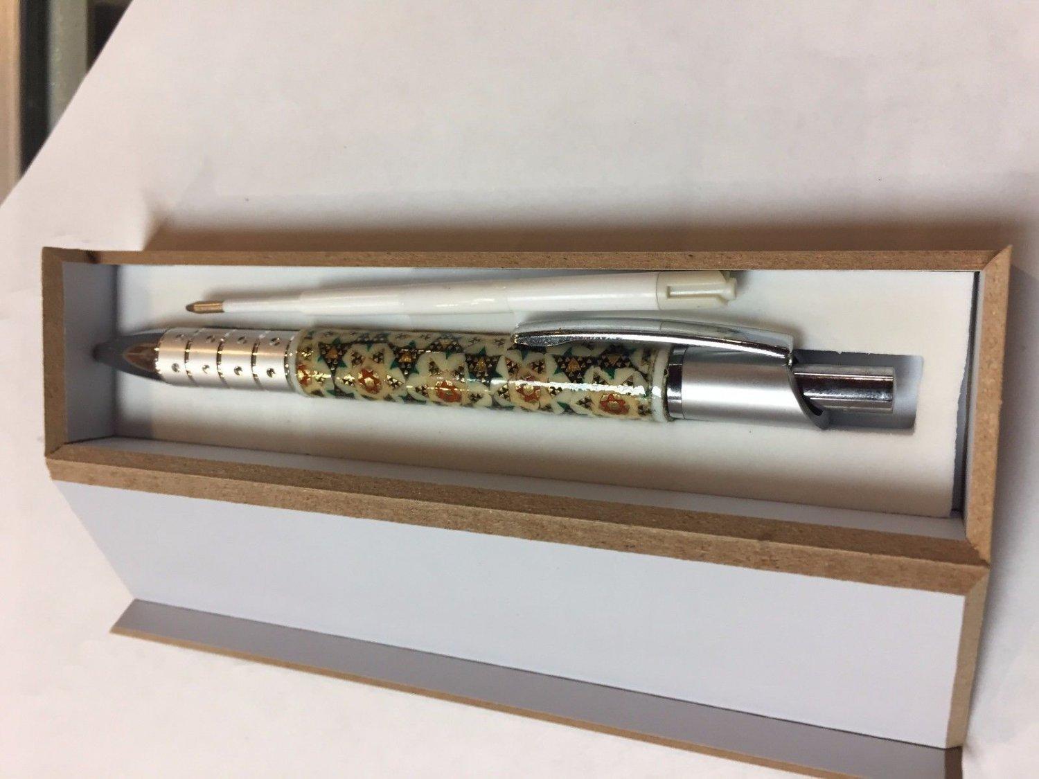 Pen inlaid art work handicraft gift ink pen Persian  sale nice gift