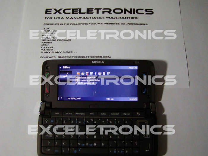 Nokia E90 Communicator Unlocked Unbranded 1yr Nokia USA Warrranty!
