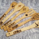Set of 6 Bamboo Spoons